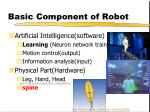 basic component of robot