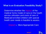 what is an evaluation feasibility study