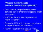 what is the minnesota medical home project mmhp