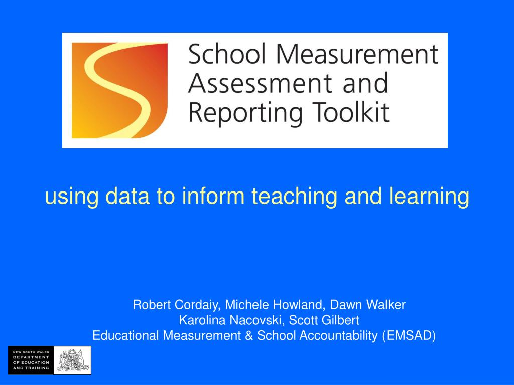 using data to inform teaching and learning l.