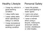 healthy lifestyle personal safety