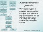 automated interface generation