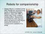 robots for companionship