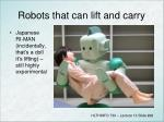 robots that can lift and carry