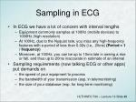 sampling in ecg