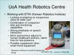 uoa health robotics centre