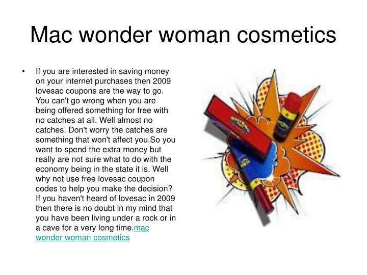 m ac wonder woman cosmetics n.