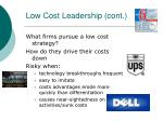 low cost leadership cont25