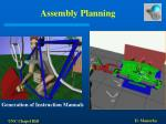 assembly planning