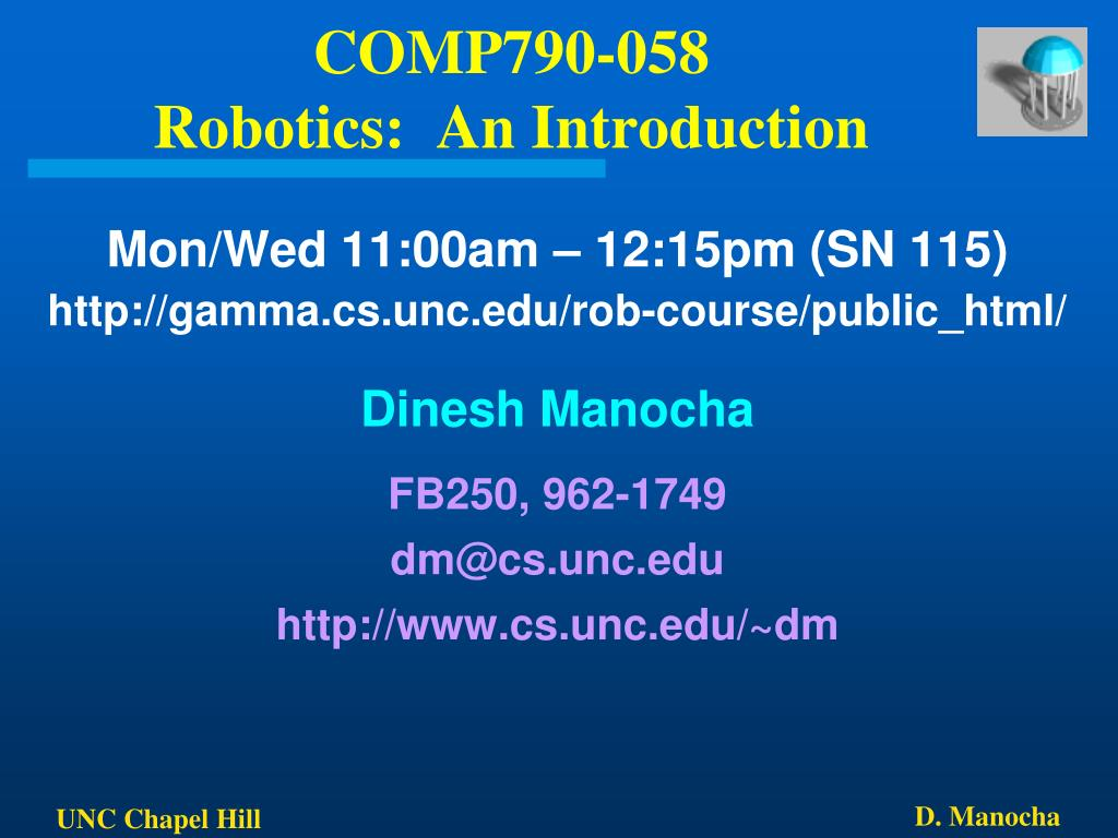 comp790 058 robotics an introduction l.