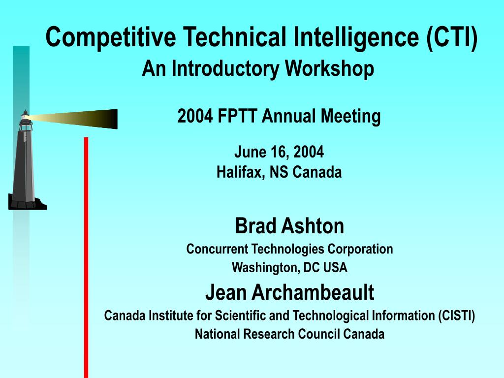Competitive Technical Intelligence (CTI)