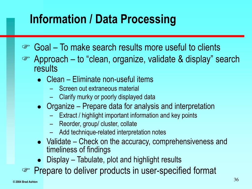 Information / Data Processing