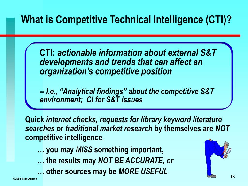 What is Competitive Technical Intelligence (CTI)?