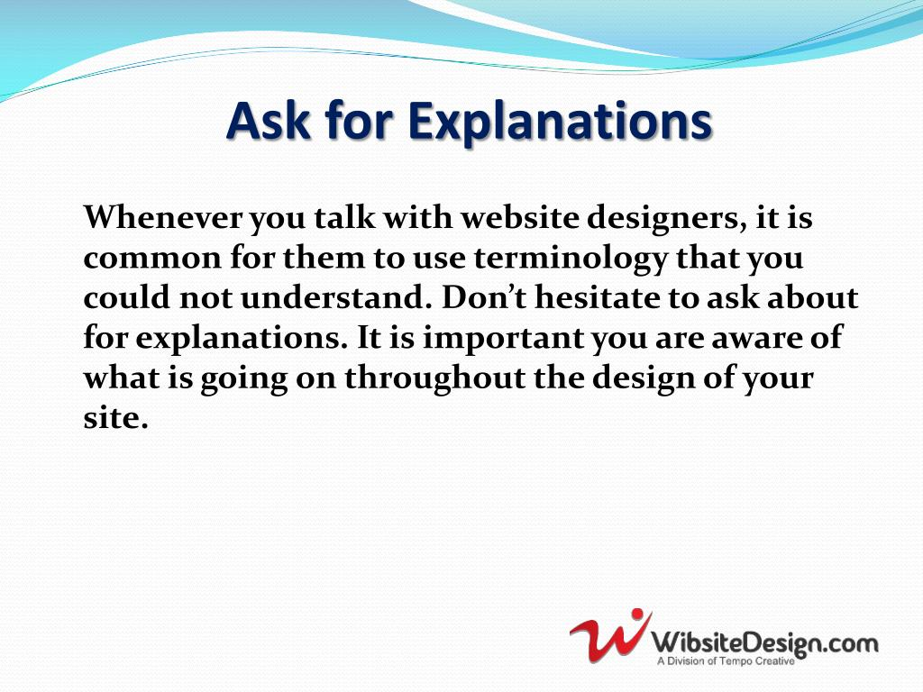 Ask for Explanations