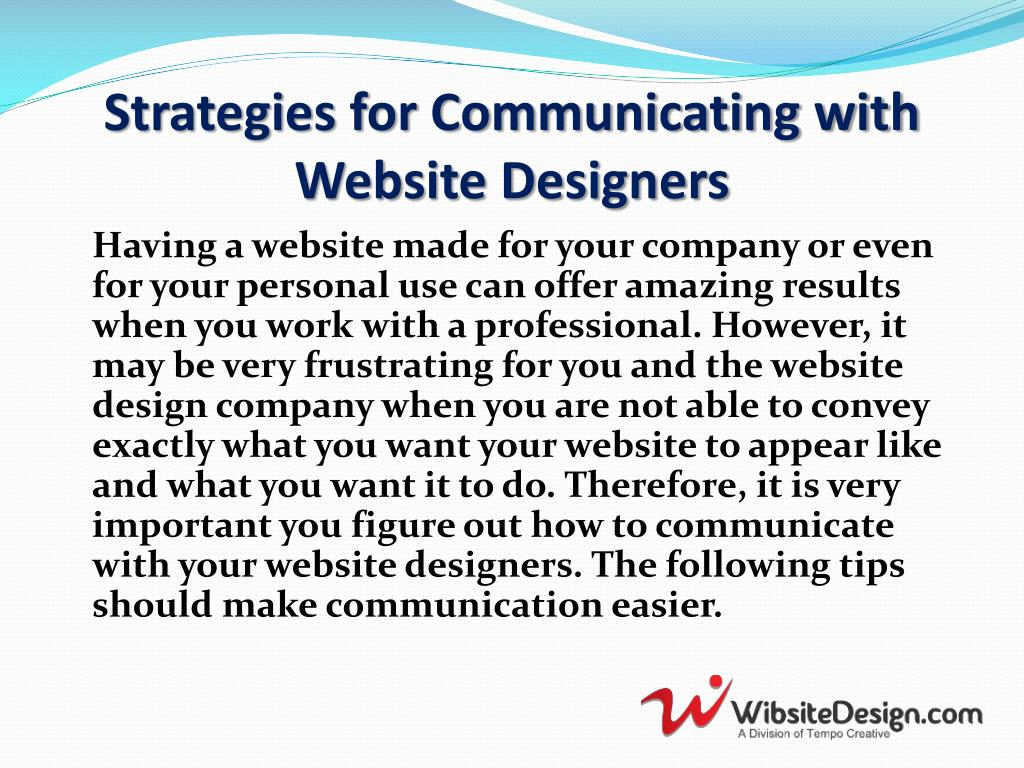 Strategies for Communicating with Website Designers
