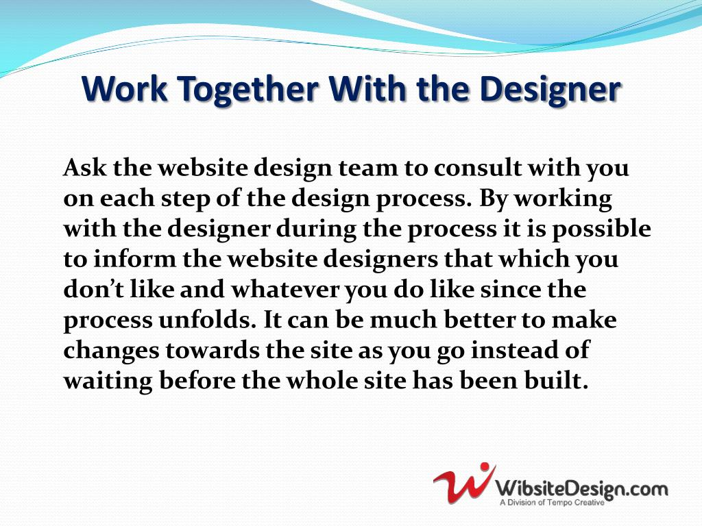 Work Together With the Designer