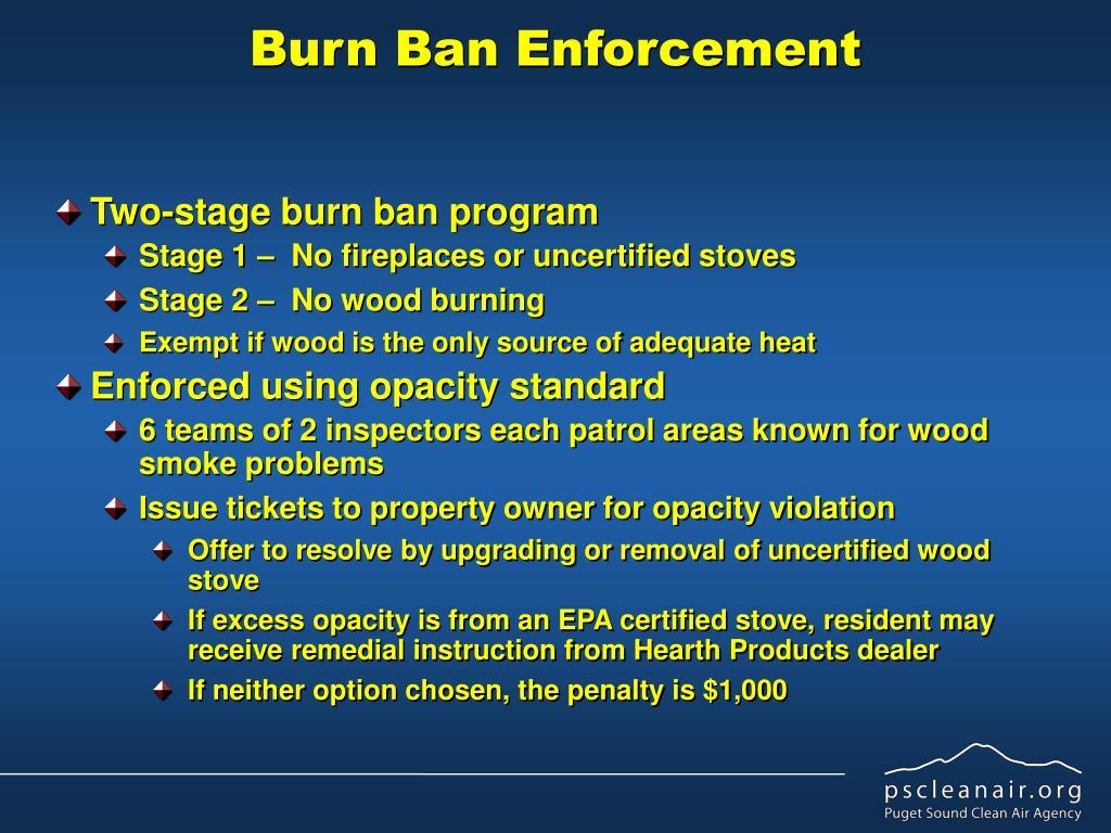Burn Ban Enforcement