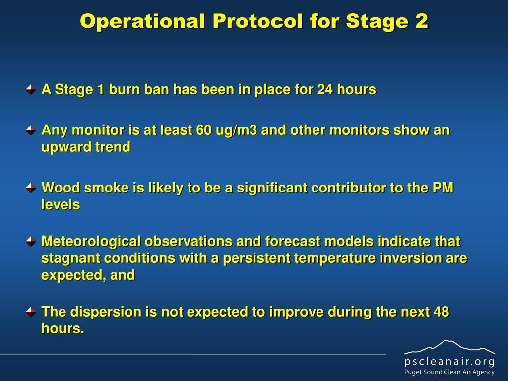 Operational Protocol for Stage 2