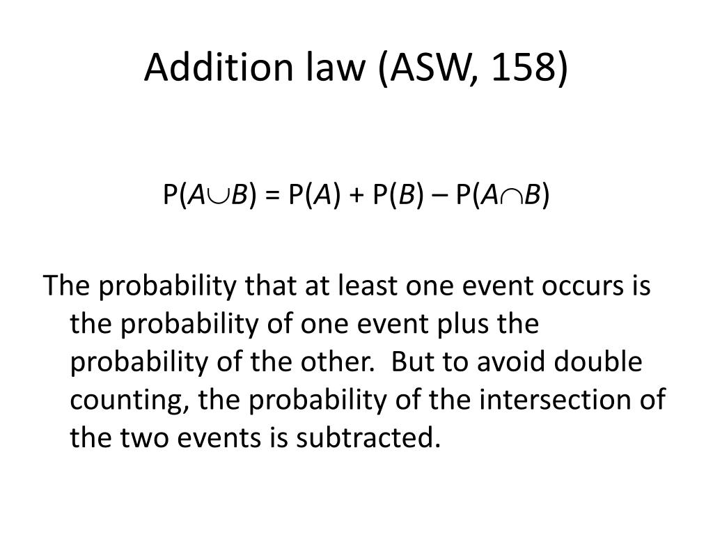 Addition law (ASW, 158)