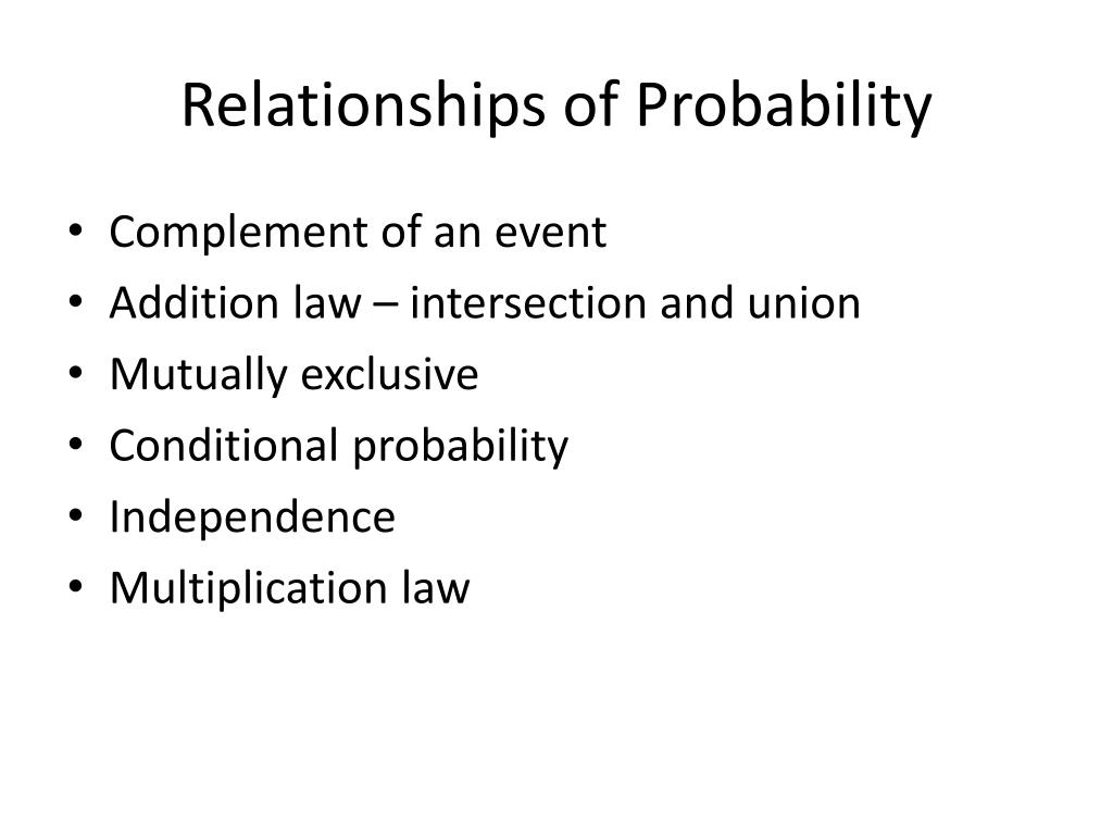 Relationships of Probability