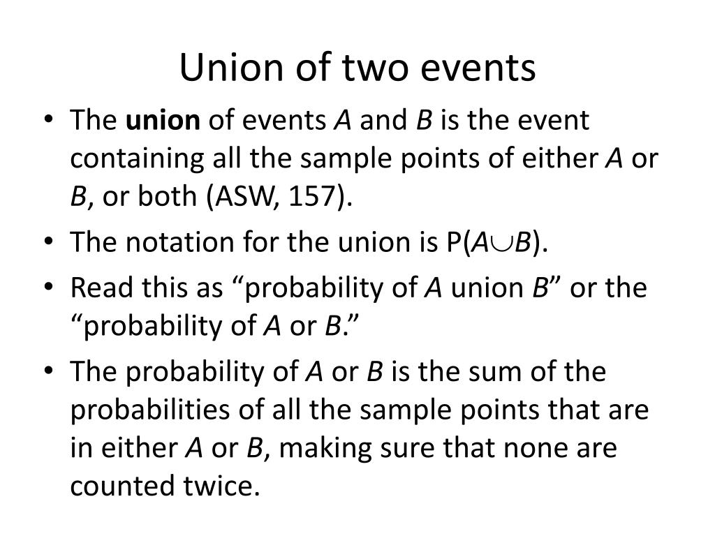 Union of two events