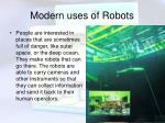 modern uses of robots