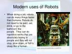modern uses of robots7