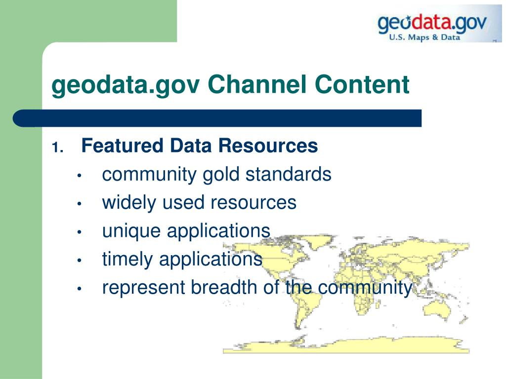 geodata.gov Channel Content