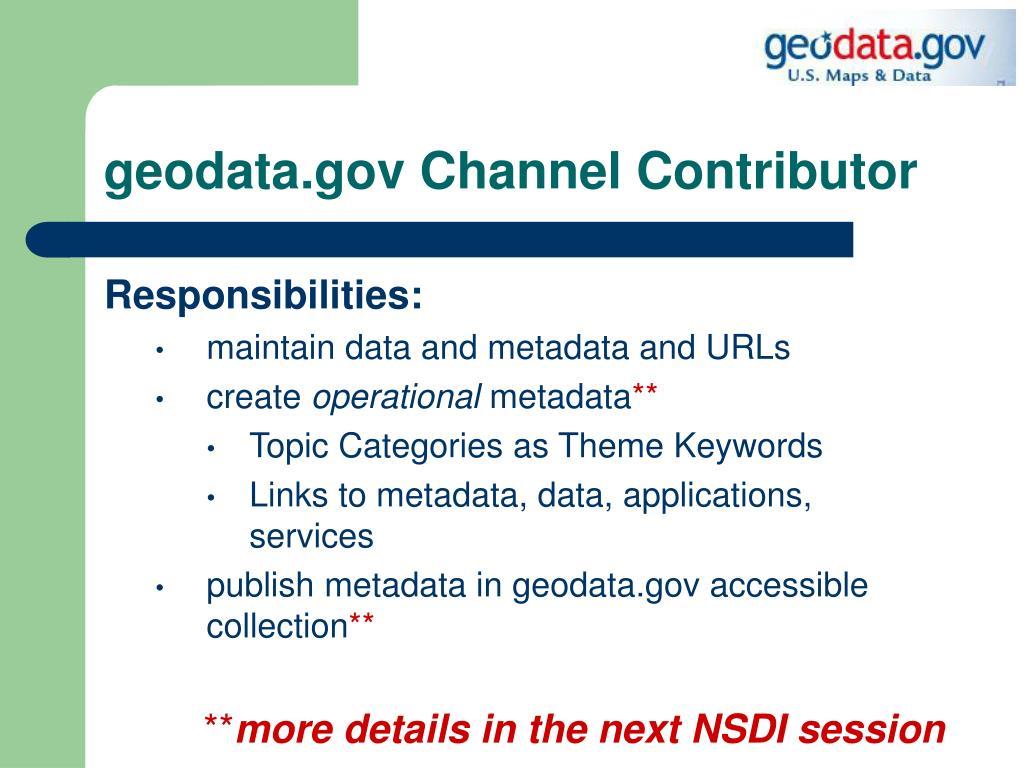 geodata.gov Channel Contributor