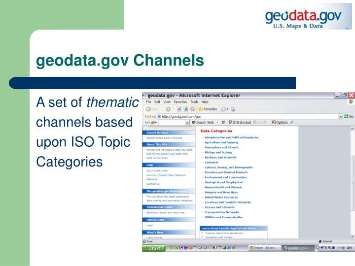 Geodata gov channels