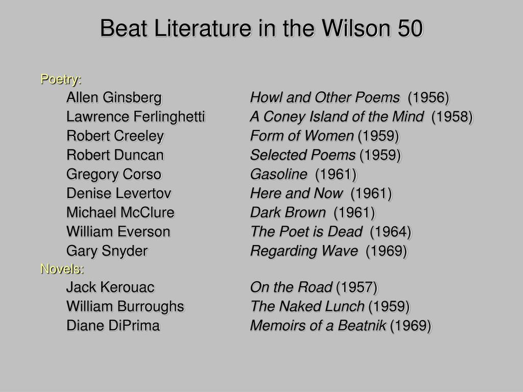 Beat Literature in the Wilson 50