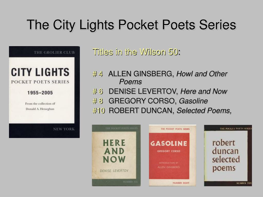 The City Lights Pocket Poets Series