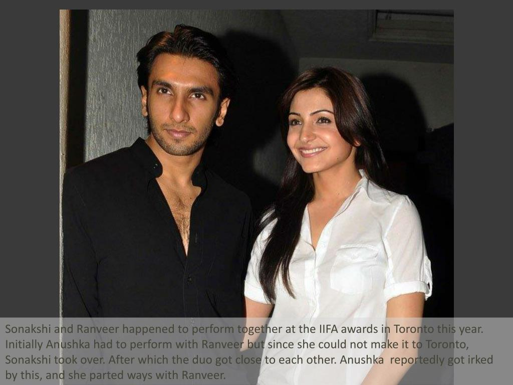 Sonakshi and Ranveer happened to perform together at the IIFA awards in Toronto this year. Initially Anushka had to perform with Ranveer but since she could not make it to Toronto, Sonakshi took over. After which the duo got close to each other. Anushka  reportedly got irked by this, and she parted ways with Ranveer.