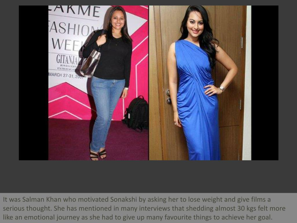 It was Salman Khan who motivated Sonakshi by asking her to lose weight and give films a serious thought. She has mentioned in many interviews that shedding almost 30 kgs felt more like an emotional journey as she had to give up many favourite things to achieve her goal.