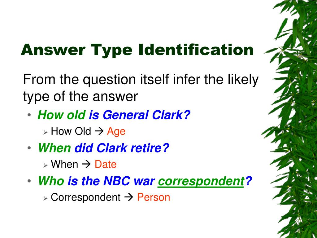 Answer Type Identification