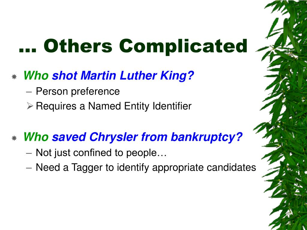 … Others Complicated