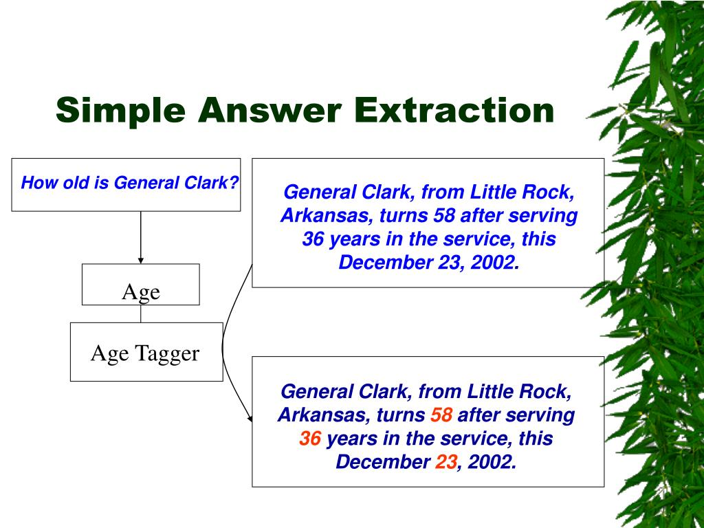 Simple Answer Extraction