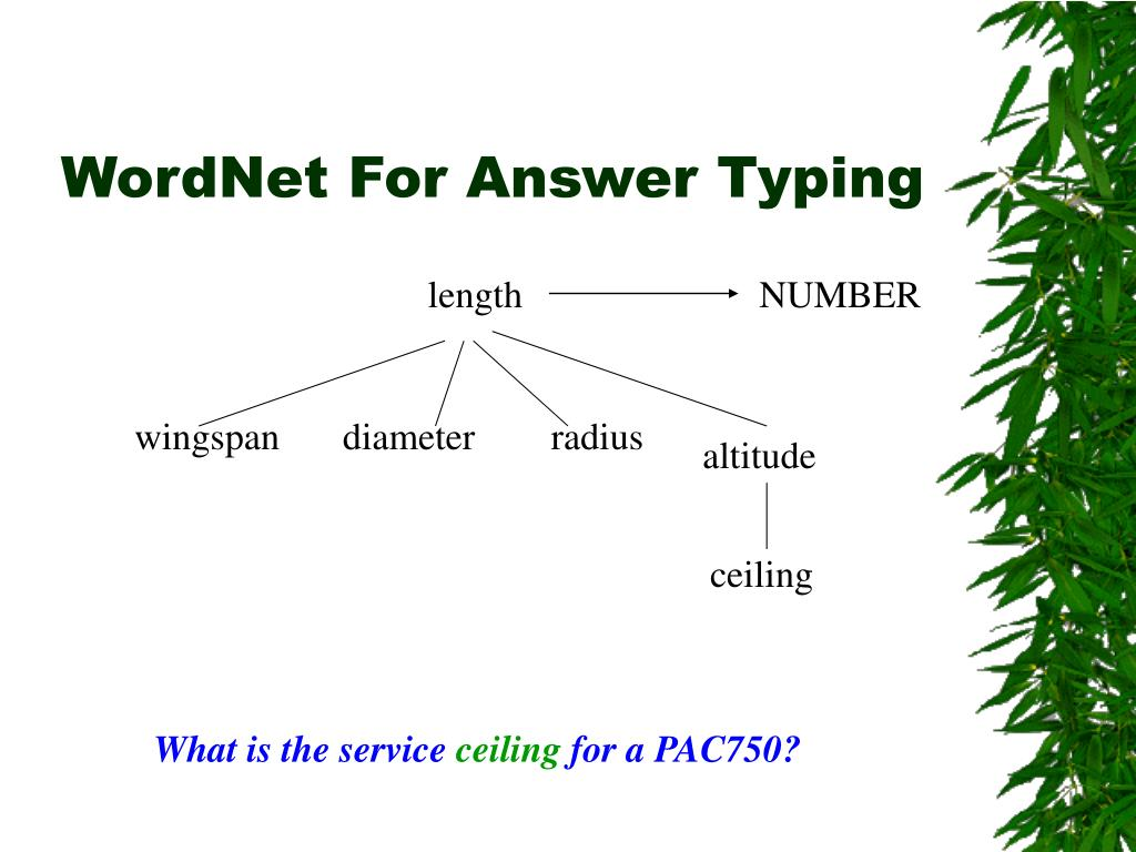 WordNet For Answer Typing