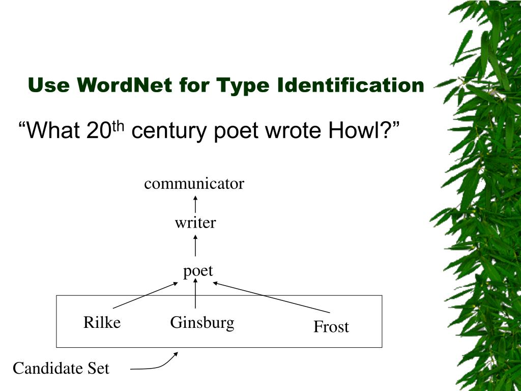 Use WordNet for Type Identification