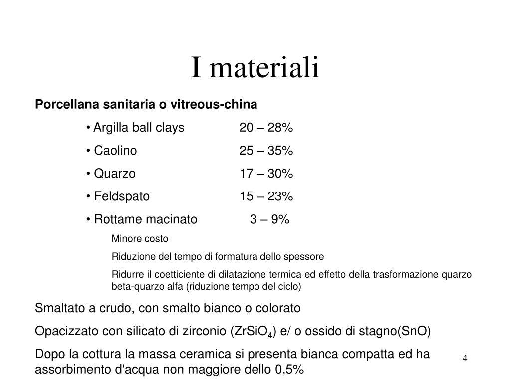 I materiali
