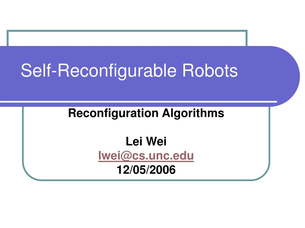 self reconfigurable robots l.