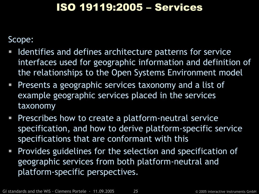 ISO 19119:2005 – Services