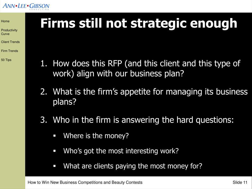 Firms still not strategic enough