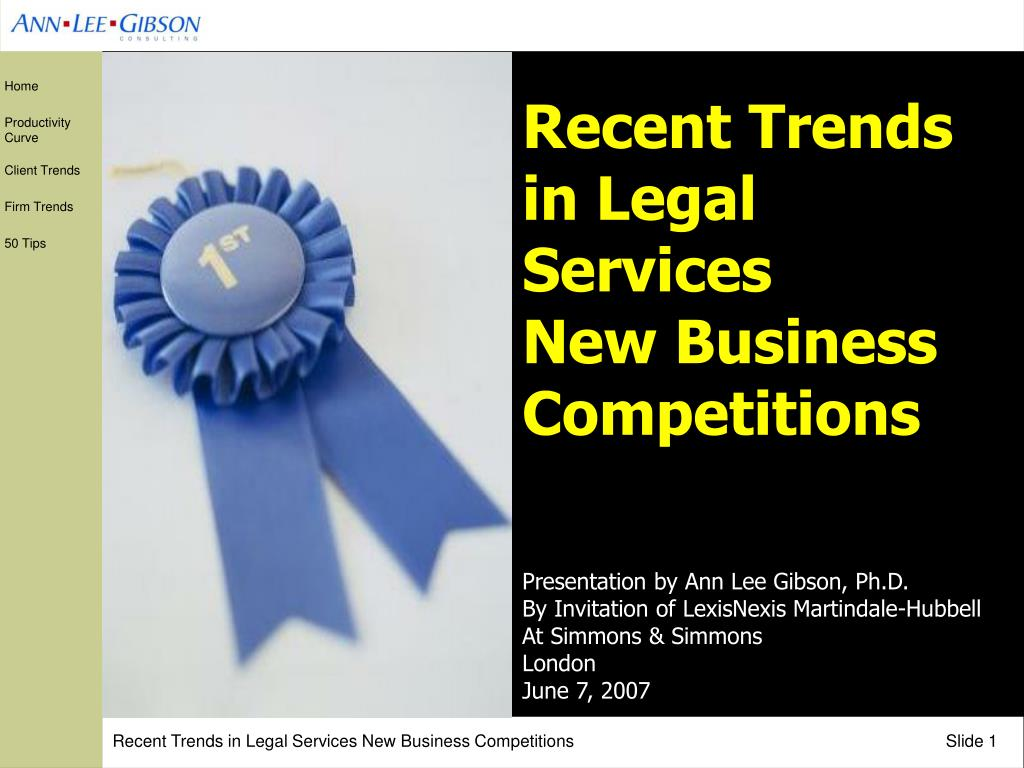 Recent Trends in Legal Services