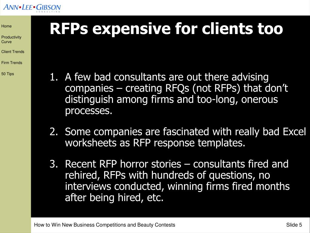 RFPs expensive for clients too