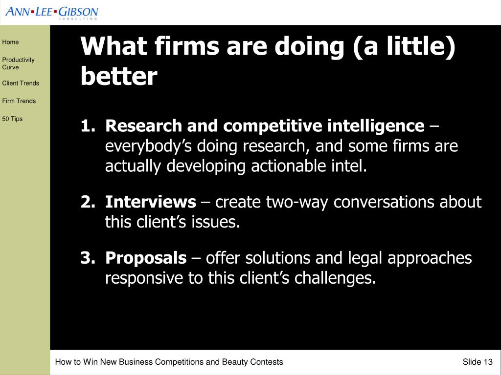 What firms are doing (a little) better