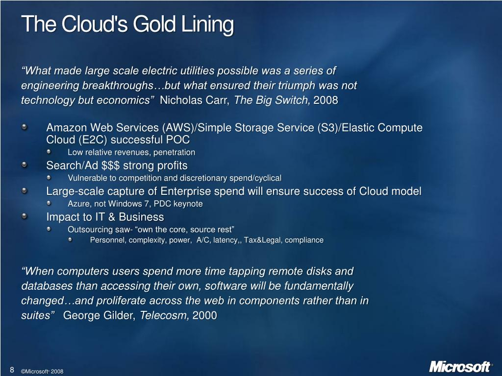 The Cloud's Gold Lining