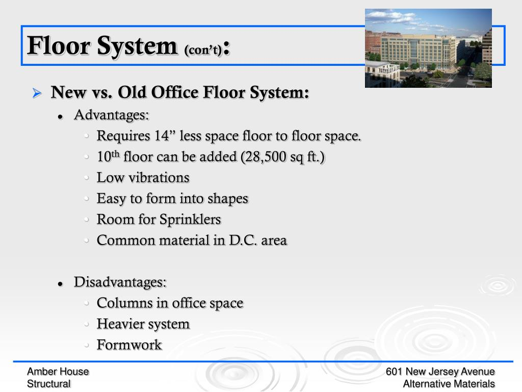 New vs. Old Office Floor System: