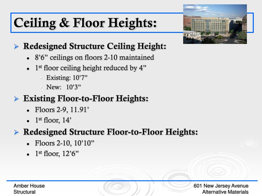 Redesigned Structure Ceiling Height: