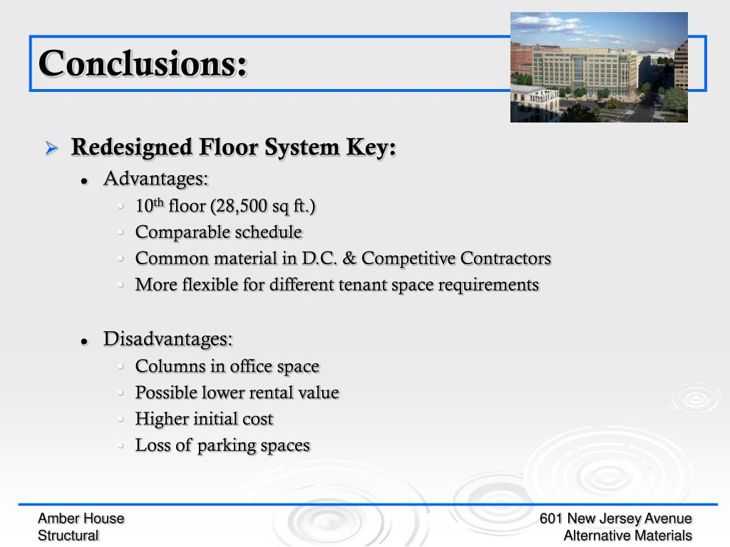 Redesigned Floor System Key: